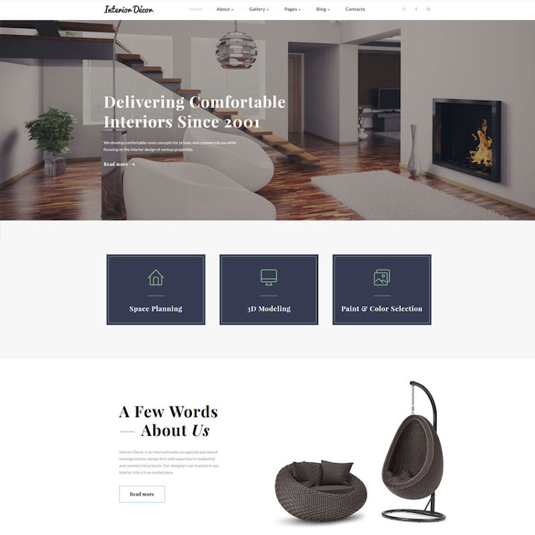 Interior Decor HTML5 Template