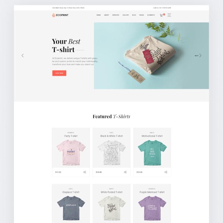 Ecoprint HTML5 website template