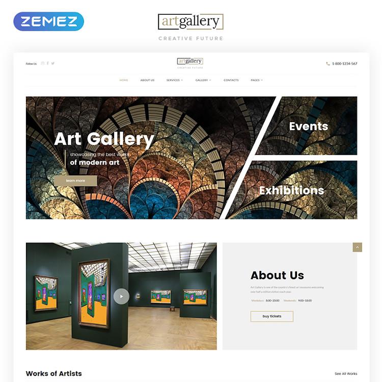 Art Gallery HTML5 template