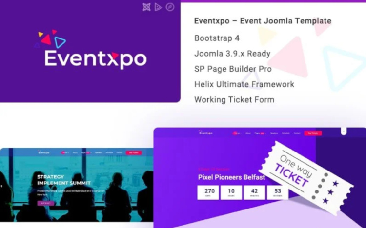 Eventxpo Event, Conference Joomla Template