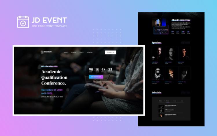 JD Event Responsive Event Website Joomla Template