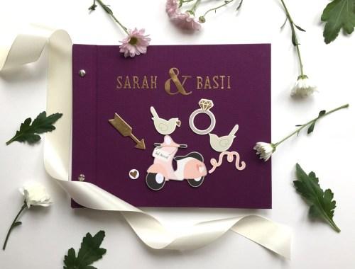 Hochzeitsbuch oder Gästebuch selbermachen, DIY