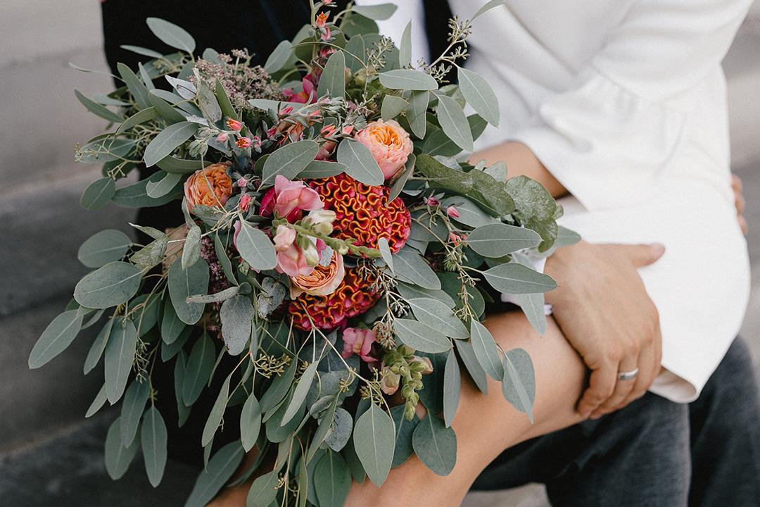 Heimliche Hochzeit in Berlin - der Blumenstrauß