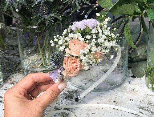 Blumenhaarrreif DIY