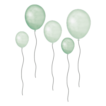 Green Balloons - Wall stories from ThatsMine