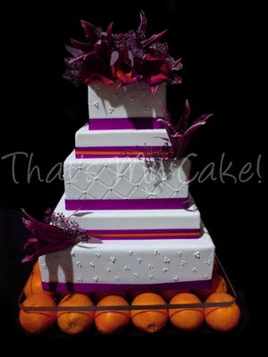 Purple and Orange Wedding Cake | That\'s My Cake!