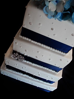 Navy-Blue-Wedding-Cake-Utah