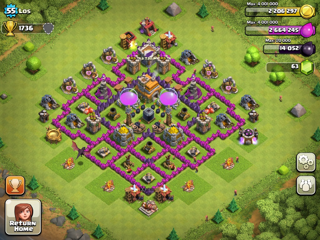 Top 10 Clash Of Clans Town Hall Level 7 Defense Base Design|