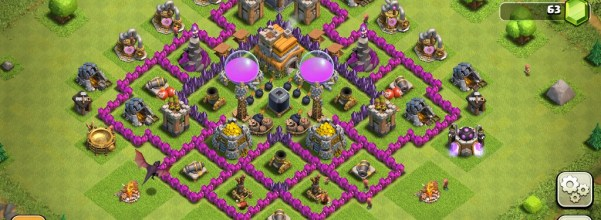 Clash Of Clans Town Hall Level 7 Defence Base Design 1