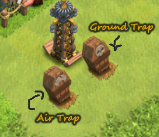 Air-and-Ground-Skeleton-traps Clash of Clans