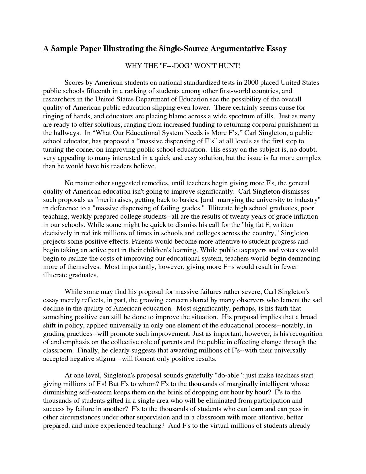 Shocking 6th Grade Argumentative Essay Examples Thatsnotus