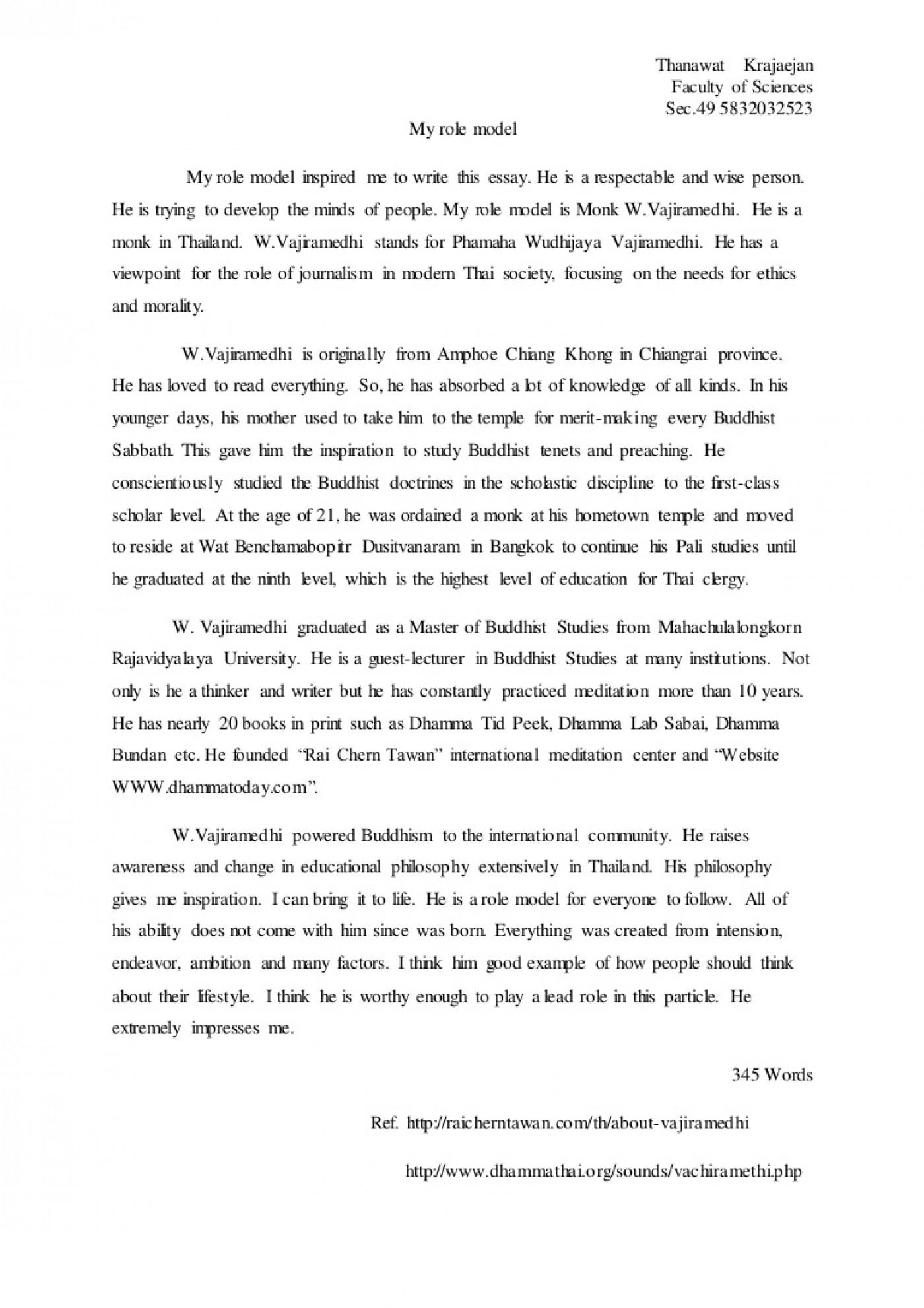 002 Essay Example Role Models Model L Thatsnotus