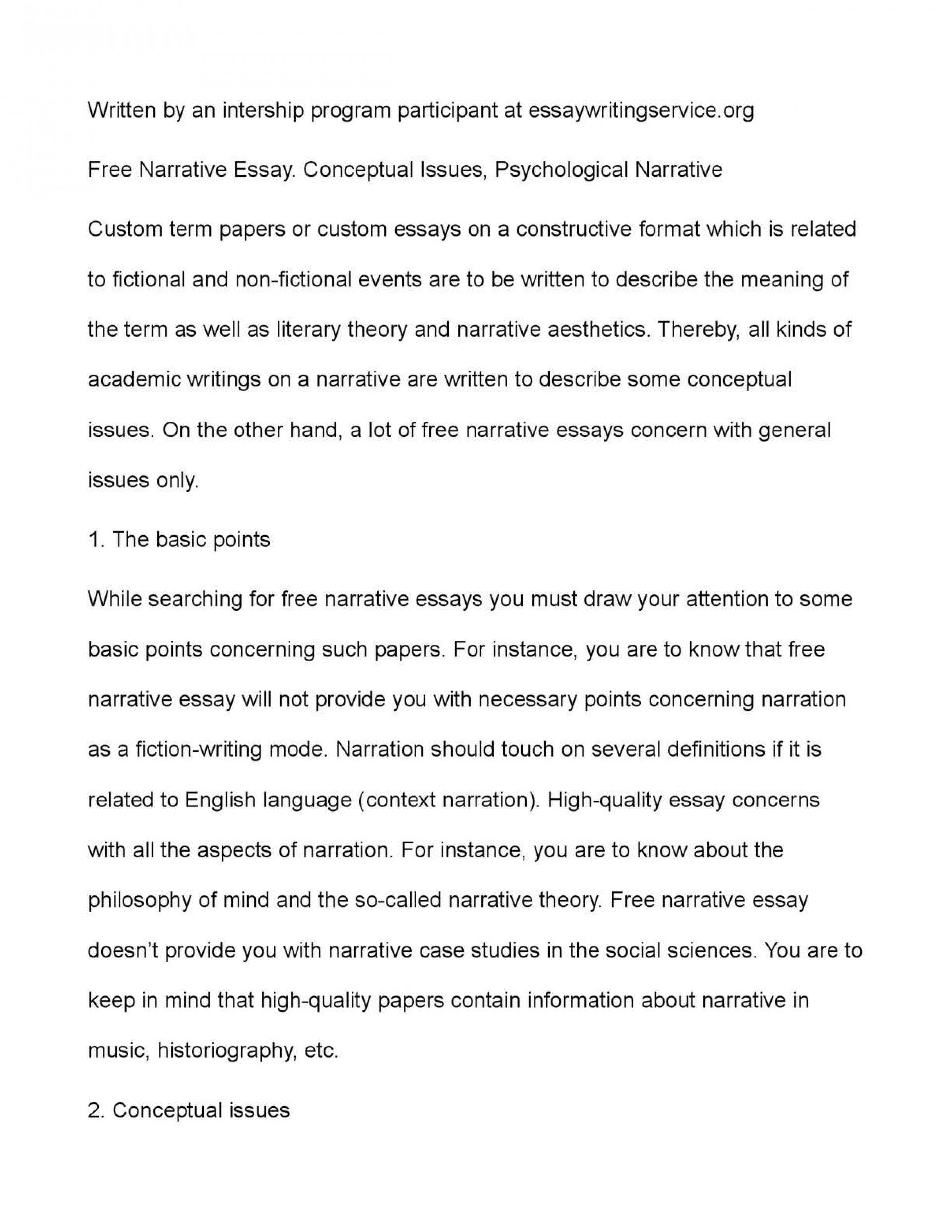 samples of narrative writing college essays free essay