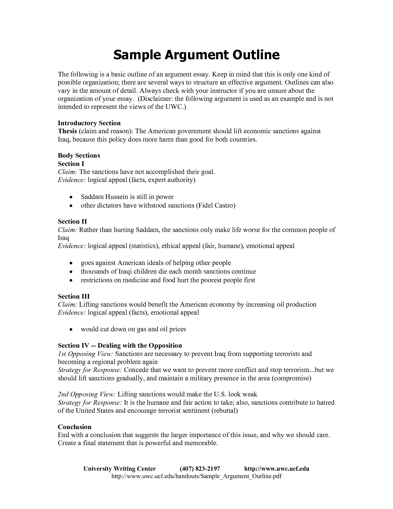 004 Sample Argumentative Essay Outline Example Thatsnotus