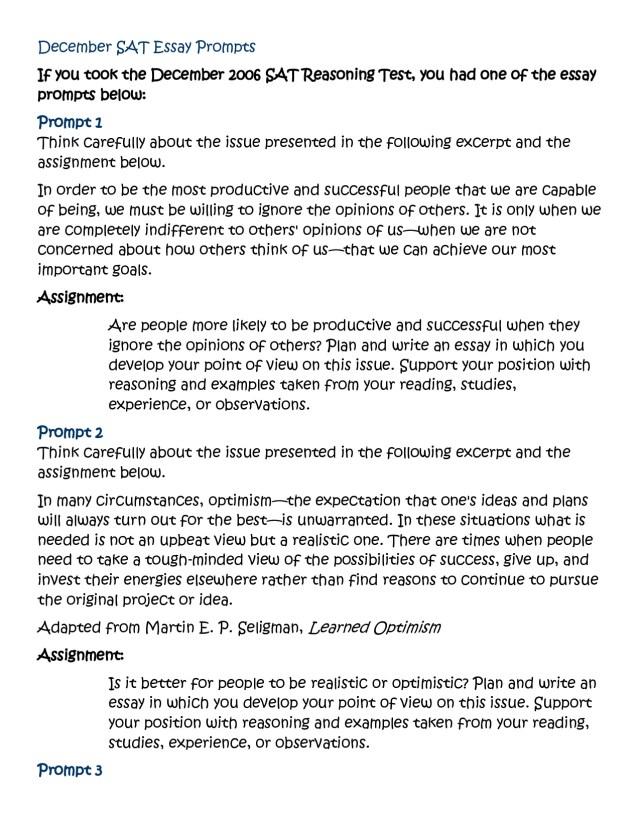Sat Essay Sample 3 | Applydocoument co