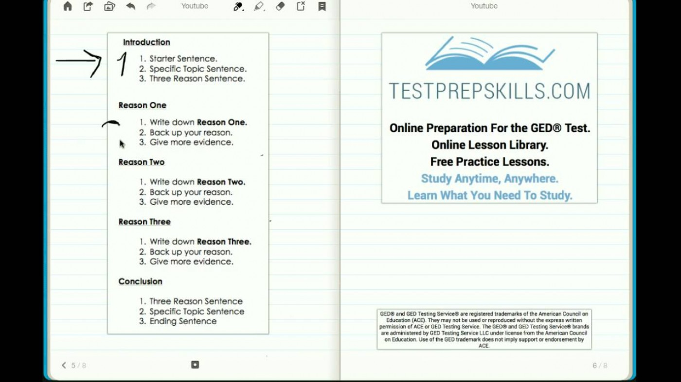 006 Essay Example Ged Practice Test Printable Worksheets