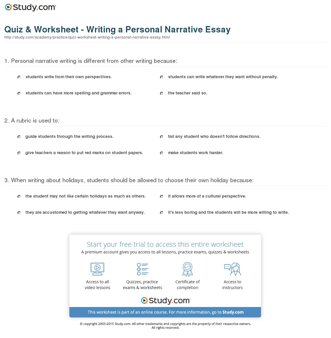 009 How To Start Personal Narrative Essay Example Examples