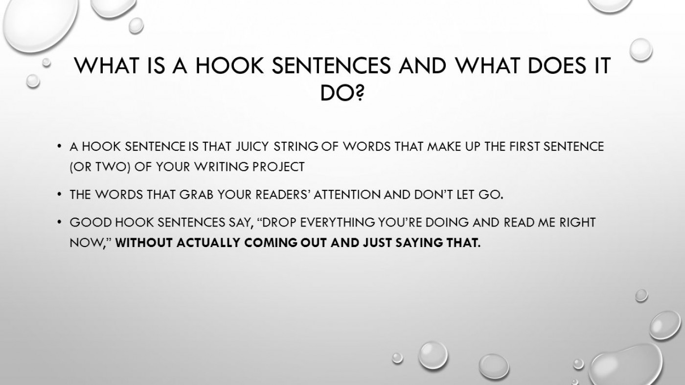 Good Hooks For Essays About Change