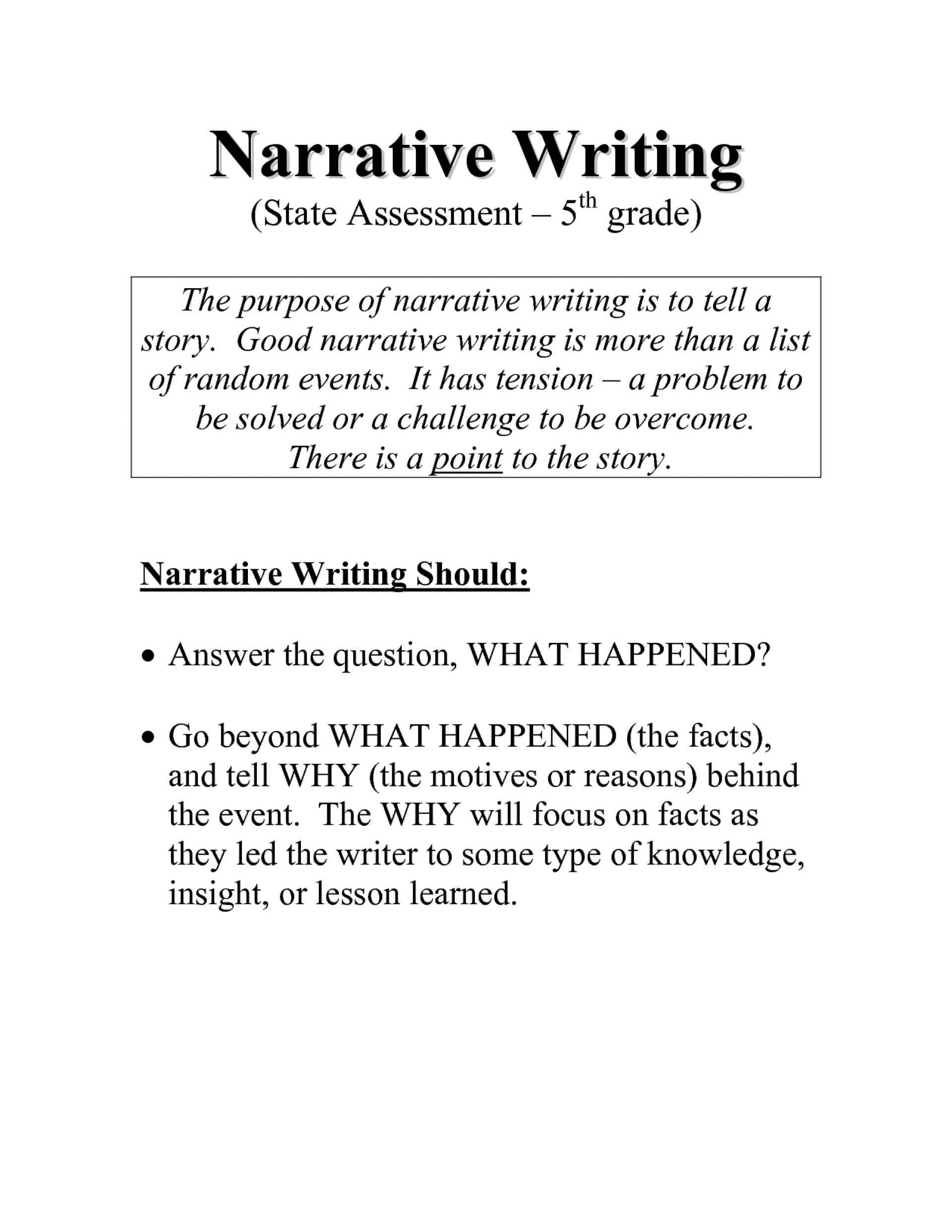 004 Good Narrative Essay Samples In Word Writing Prompt