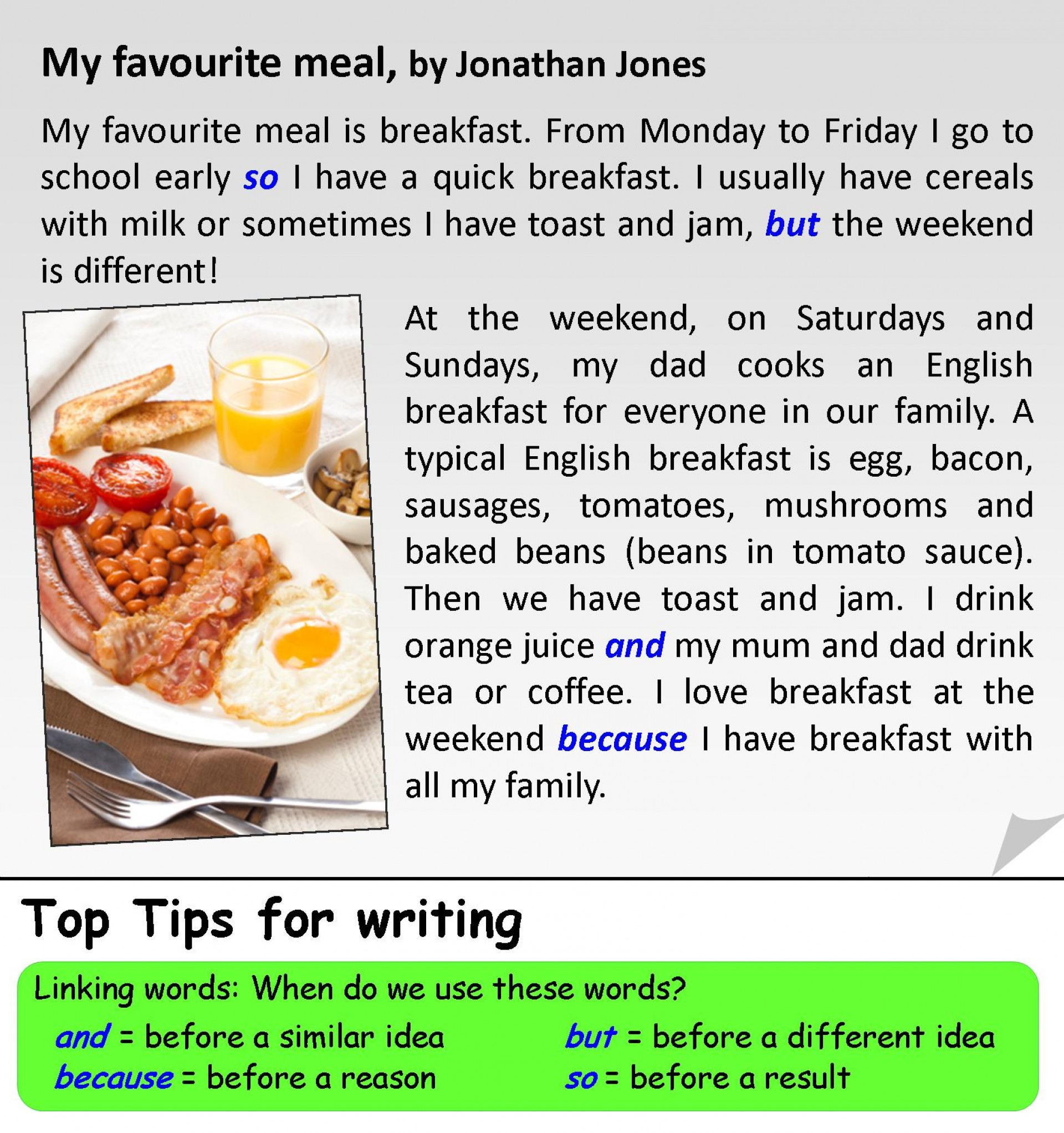 004 My Favourite Meal V5 Better Text 2 Essay Example