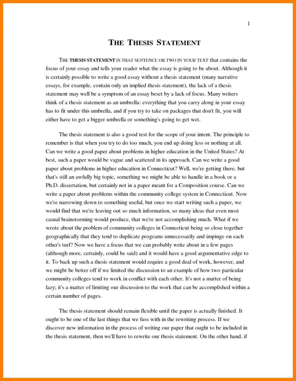 006 Personal Narrative Essay Example High School Examp