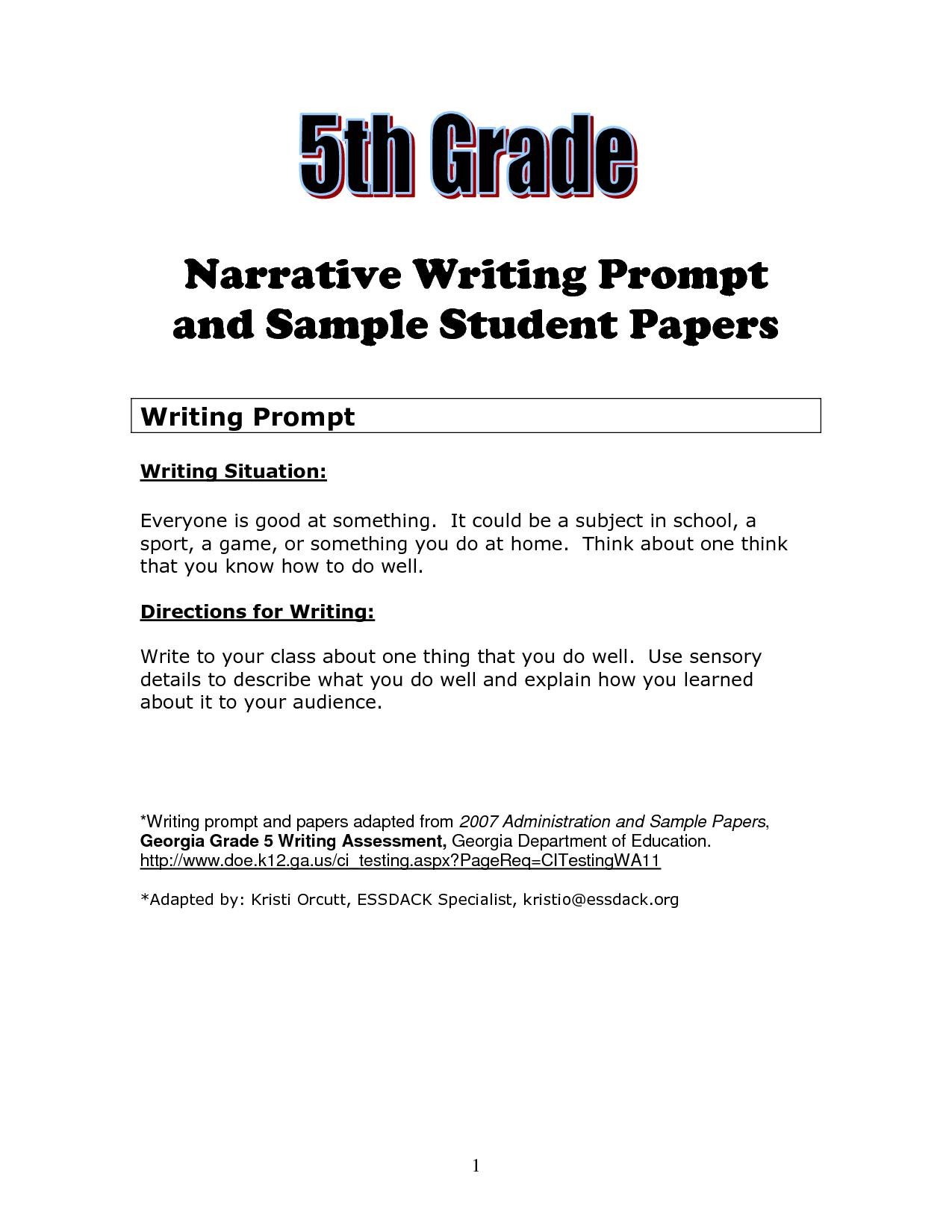 Fascinating 5th Grade Essay Topics Thatsnotus