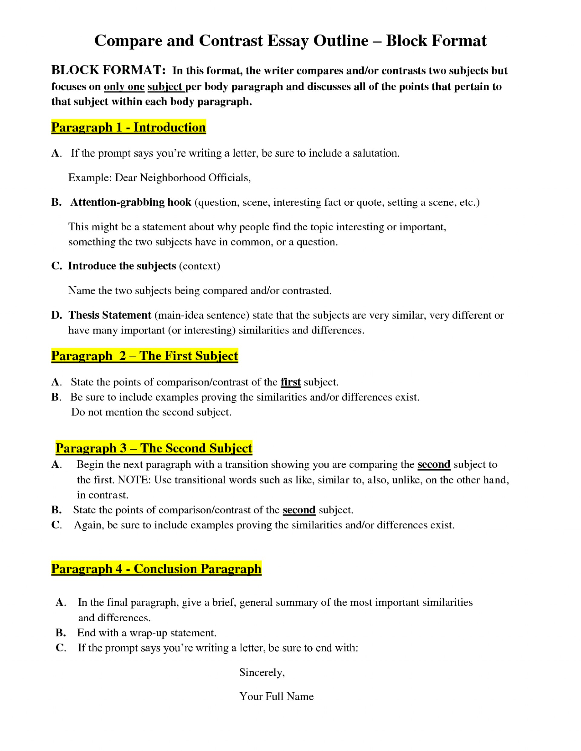 Exceptional Good Compare And Contrast Essay Topics
