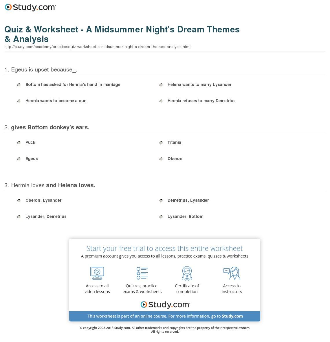 Fascinating A Midsummer Nights Dream Essay Thatsnotus