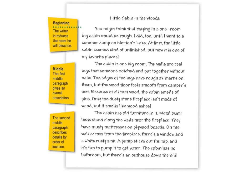 Narrative Essay Example Grade 6