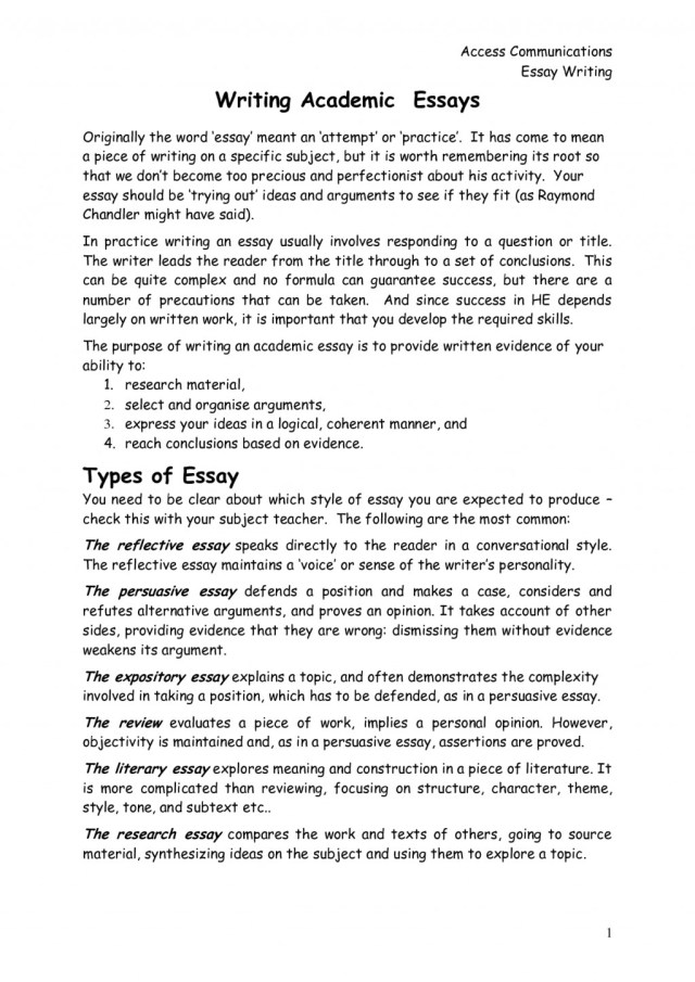 Buy A Reflective Essay Example University: A complete guide to