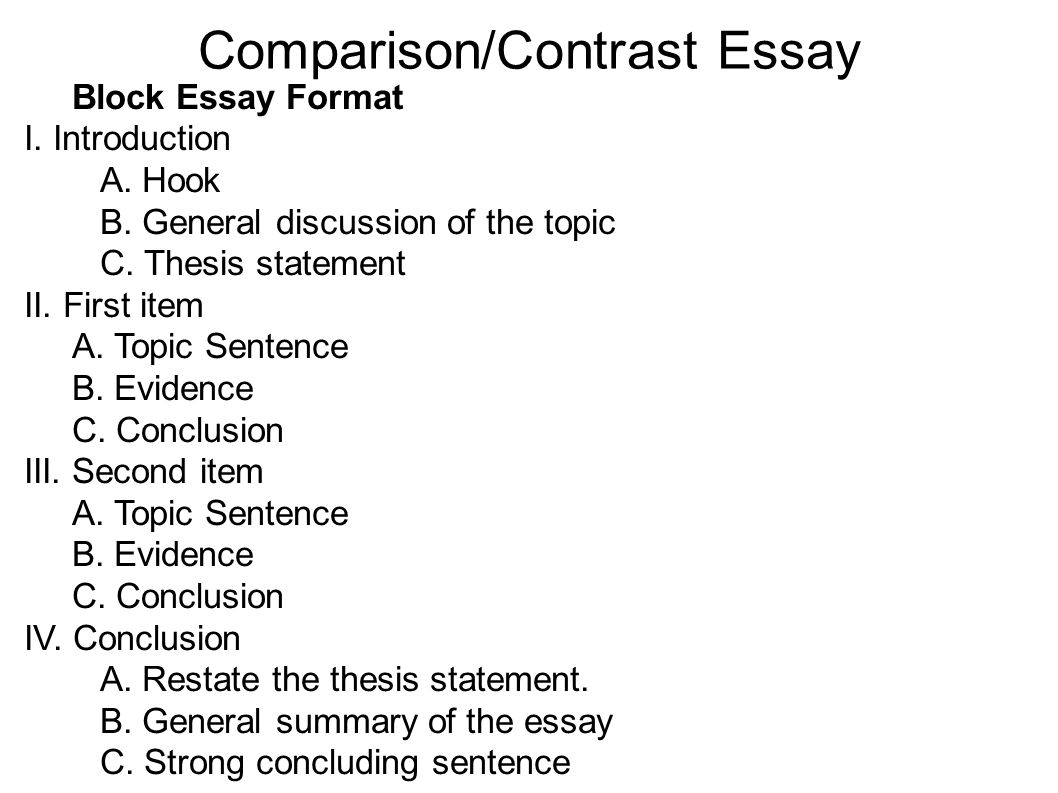 001 Essay Example Comparison Compare And Contrast Basic
