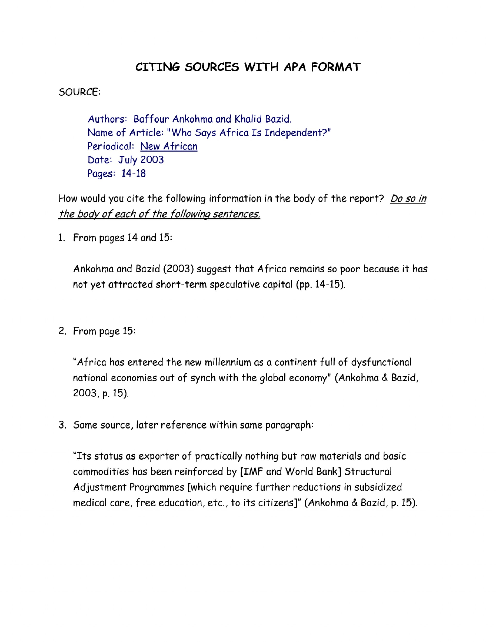 005 Essay Example Quiz Worksheet Using Information From