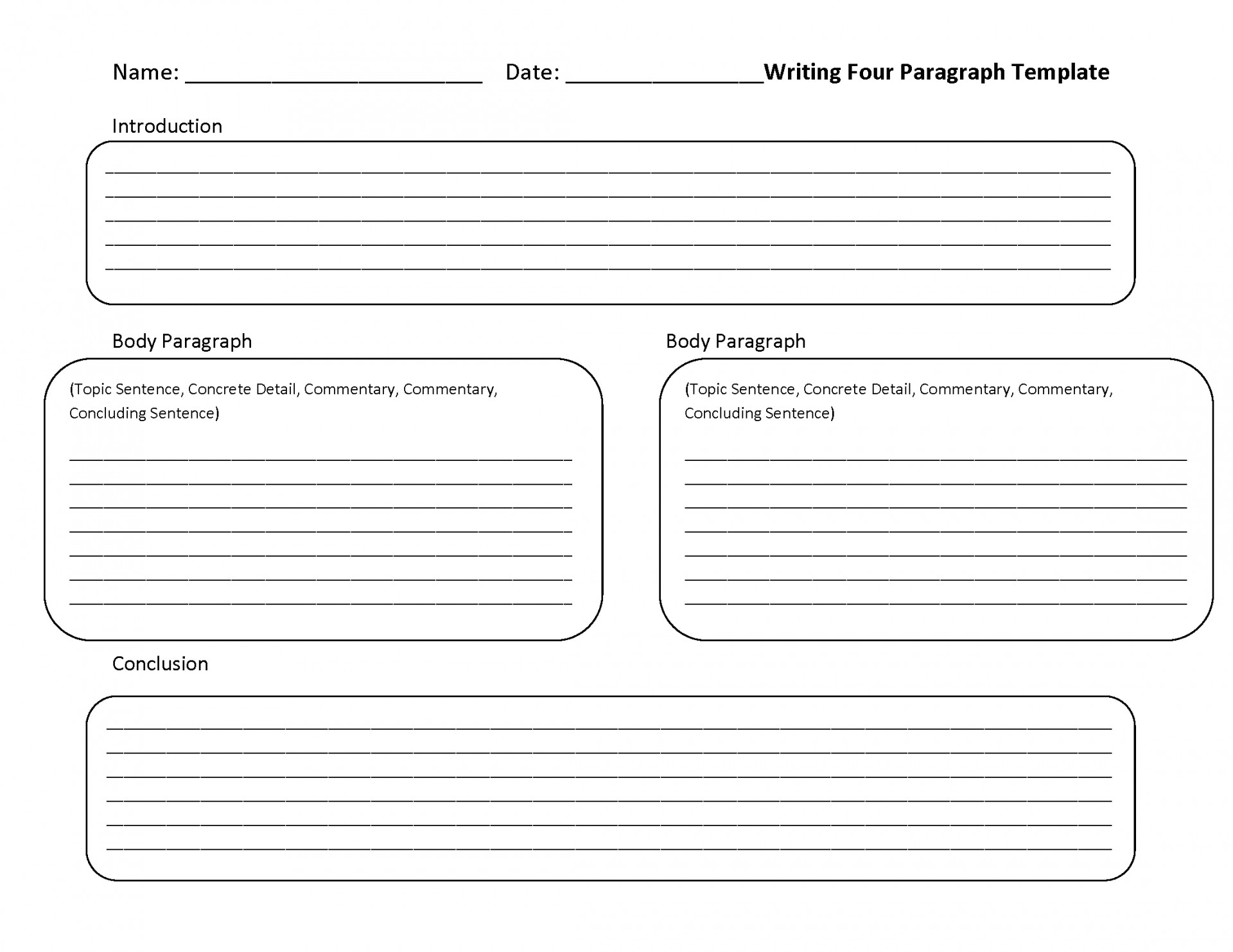 005 Paragraph Essay Example Format Outline For Persuasive
