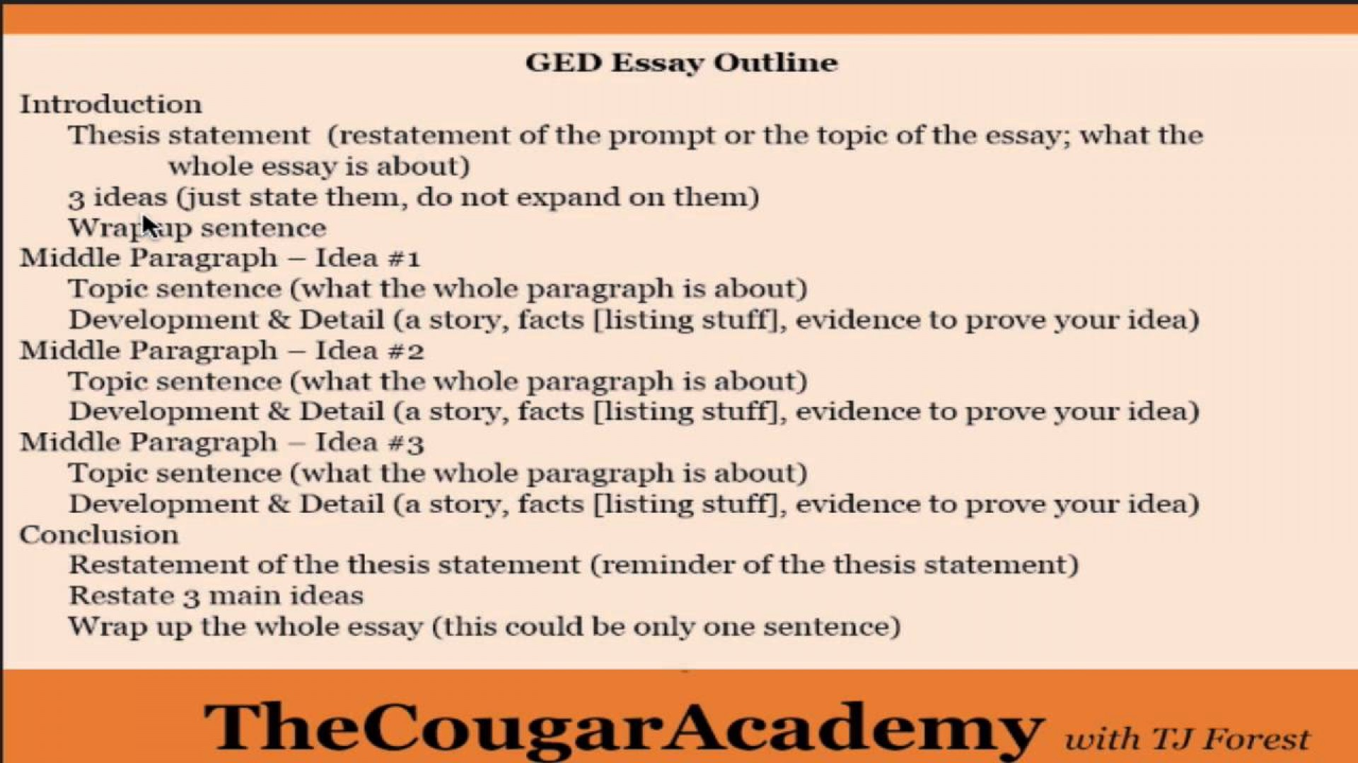 019 Ged Essay Examples Example Ideas Collection Lake