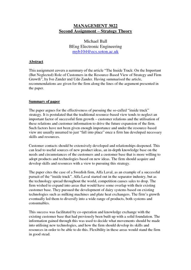 Summary Response Essay Example — Summary, Analysis, Response