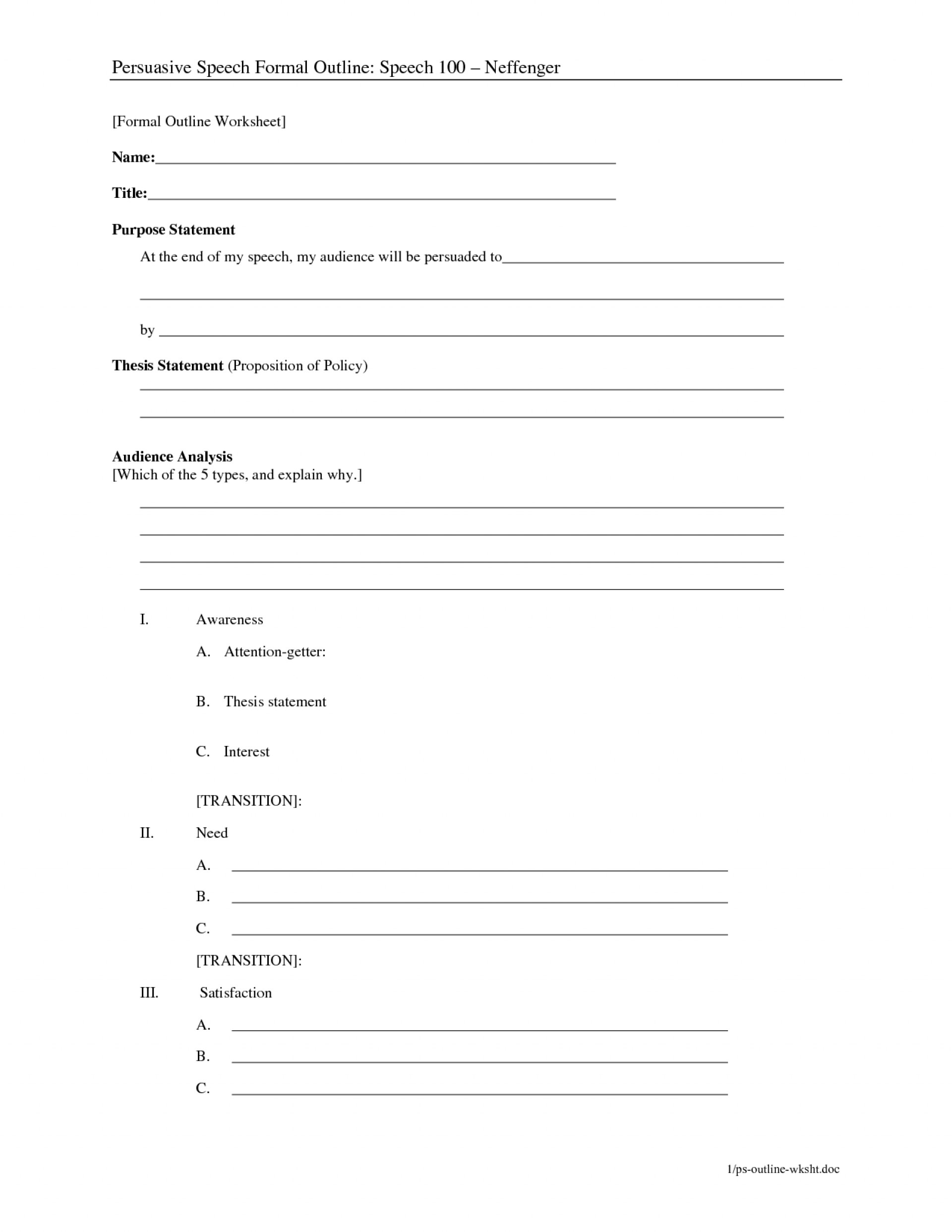 010 Essay Outline Template Example Fill In The Thatsnotus