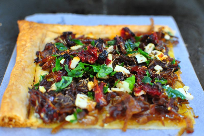 Caramelized Onion & Feta Tart