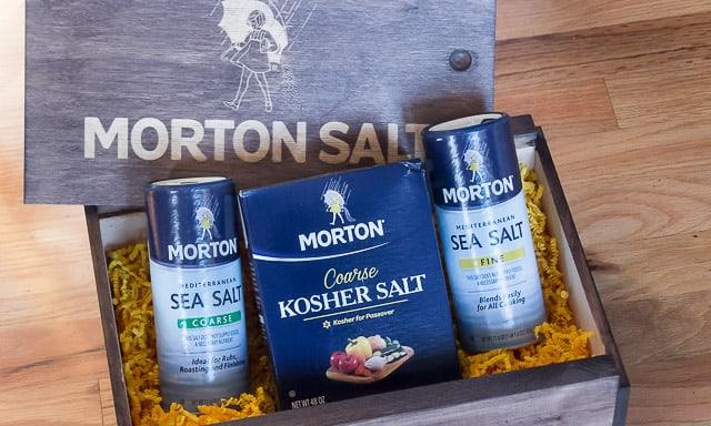Morton Sea Salt Coarse; Kosher; and Sea Salt Fine