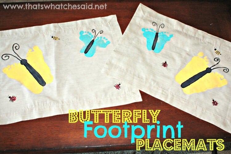 Butterfly Footprint Placemats