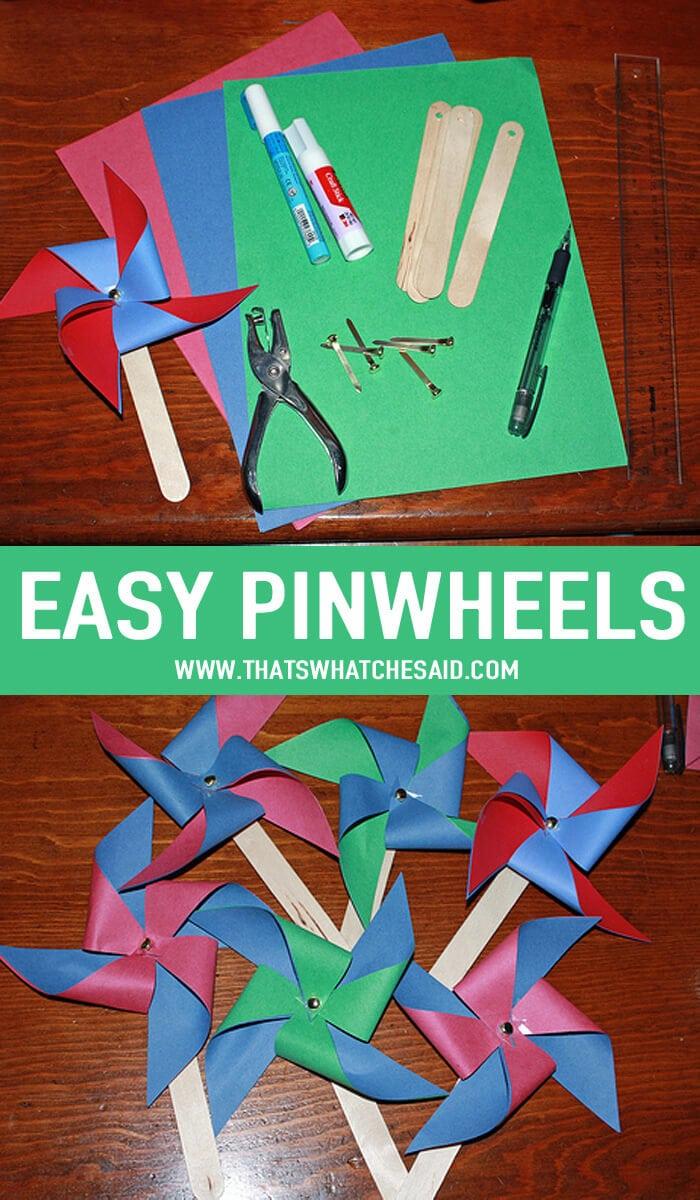 How to make Pinwheels Easily