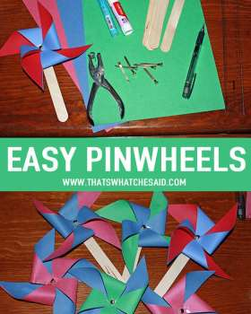 How to make a Pinwheel Easily at thatswhatchesaid.com