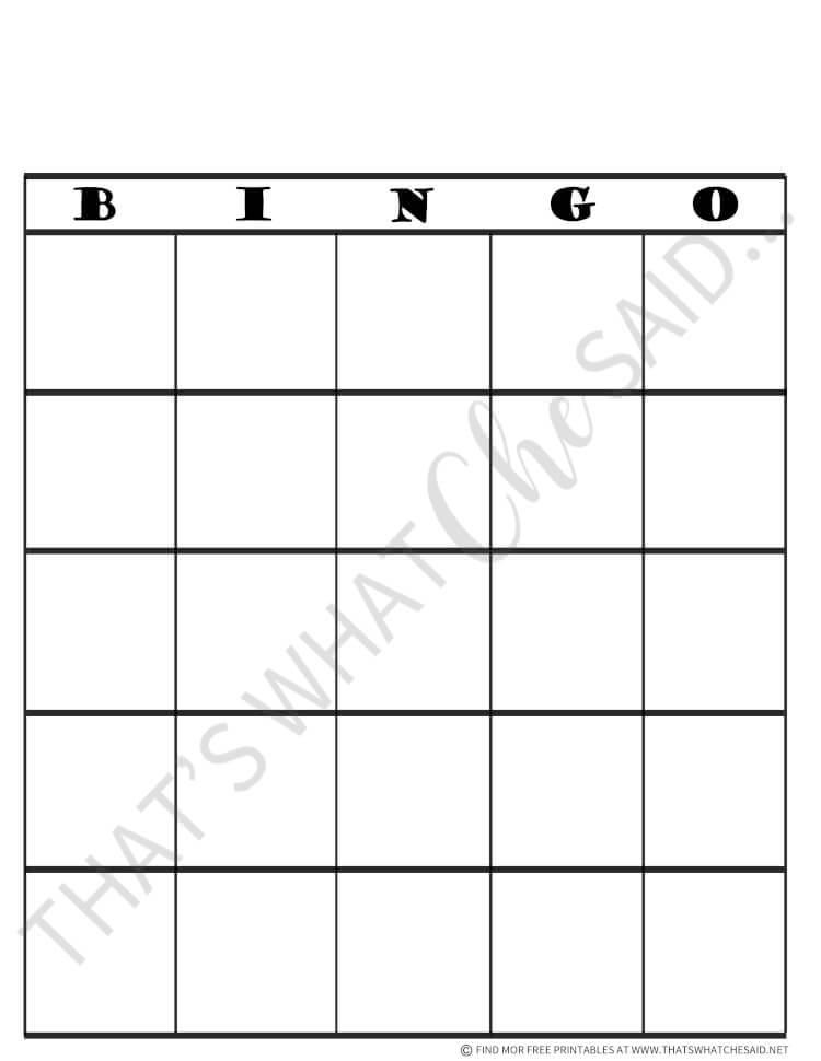 Road Trip Bingo Game Free Printable Thats What Che Said