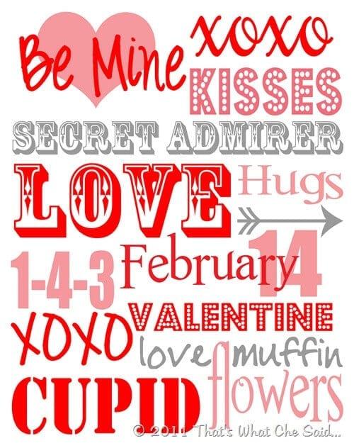 Valentine Subway Art 8 x 10