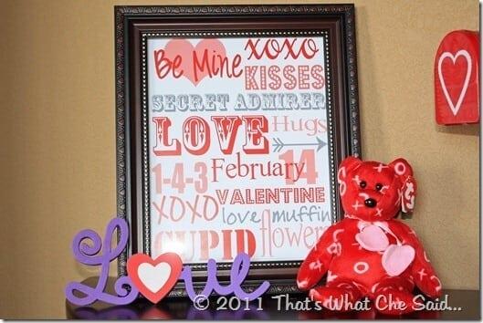 Valentine's Day Subway Print