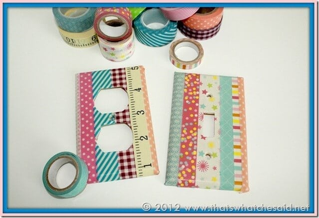Washi Tape Light Switch & Outlet Cover
