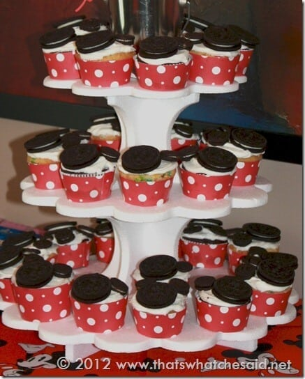 Mickey Mouse Cupcakes Close Up