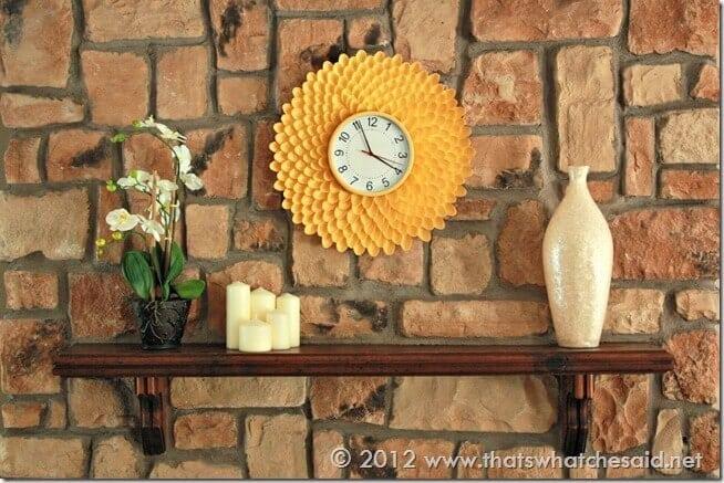 Chrysanthemum Clock on my Mantle