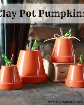 Clay Pot Pumpkins at thatswhatchesaid.com