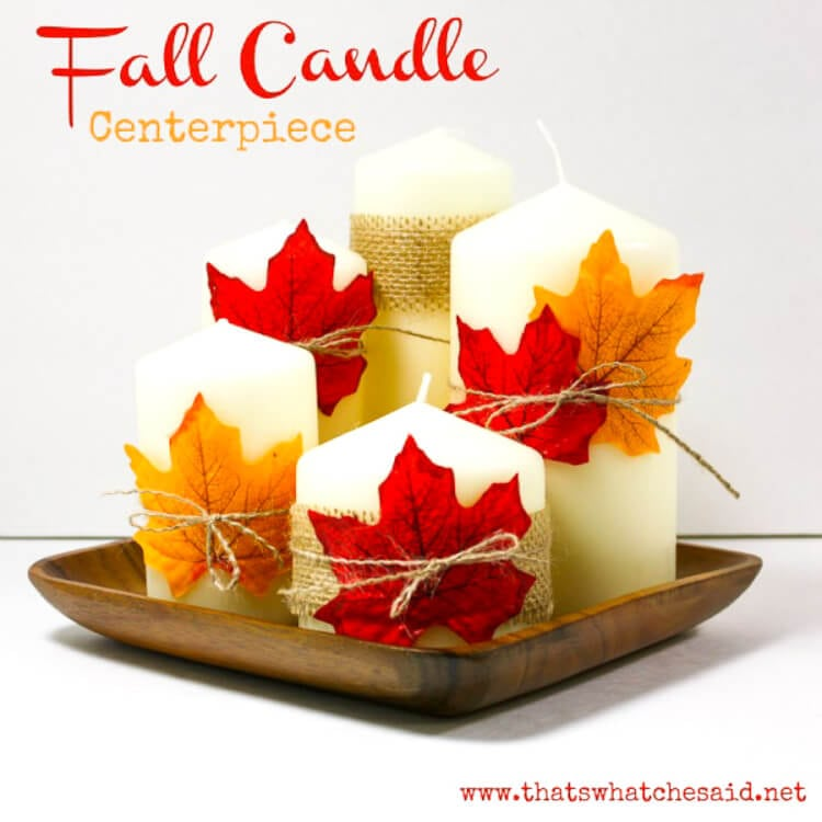 Fall Candle Centerpiece by That What Che Said
