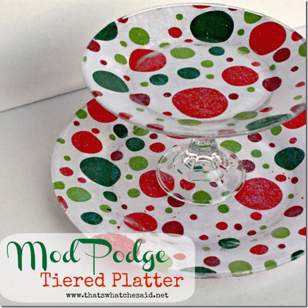 Mod Podge Tiered Cookie Platter